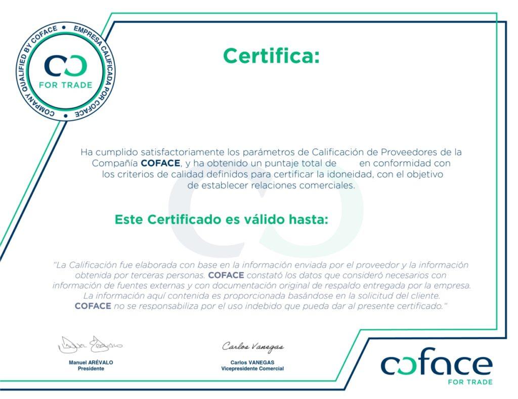 Certificacion Coface